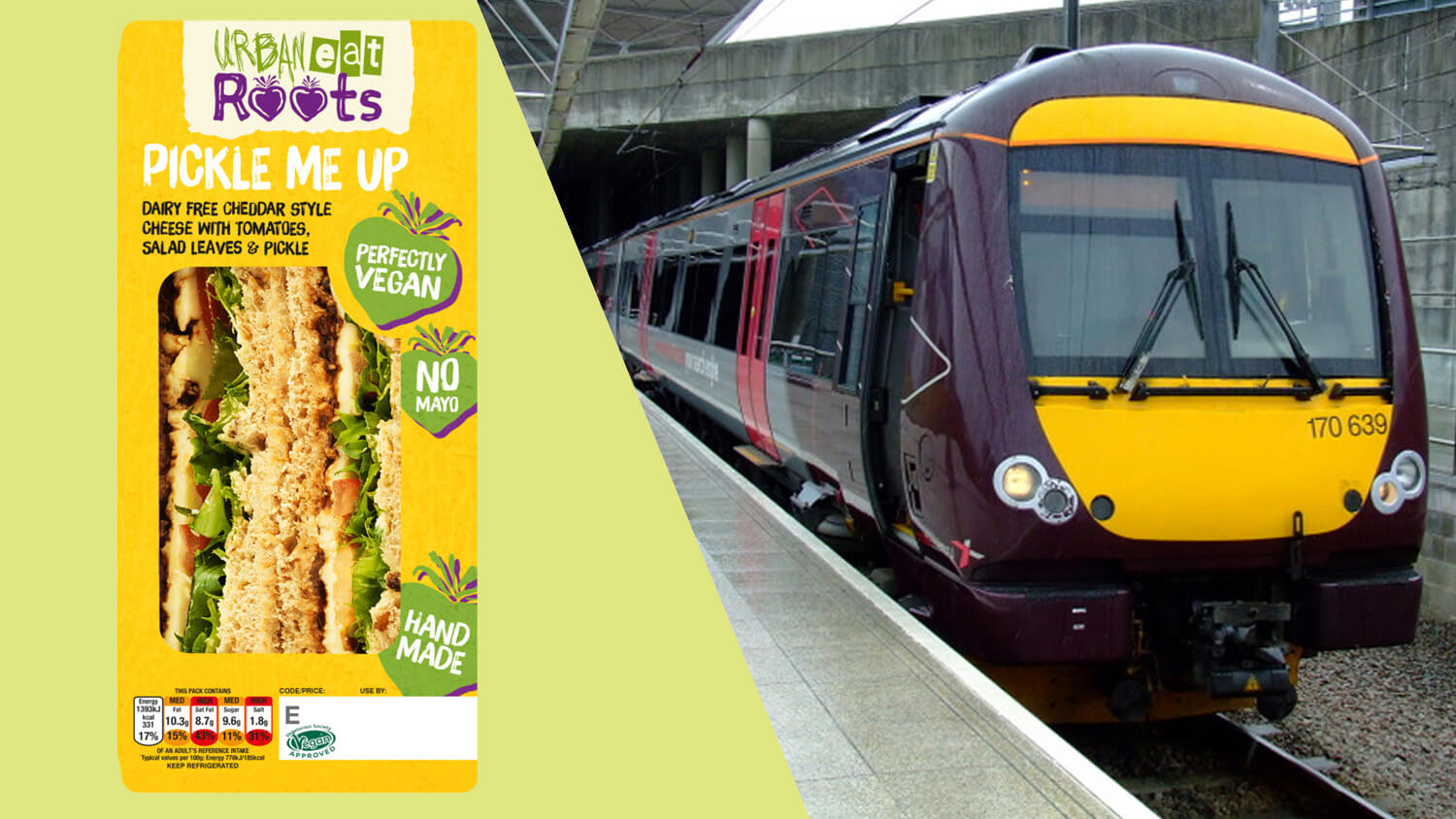 Major UK Train Company CrossCountry Trains Launches Vegan Sandwiches