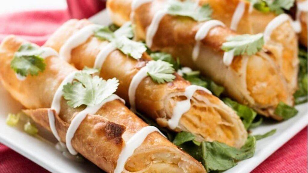 Spicy Gluten-Free Vegan Cheese and Chipotle Potato Flautas