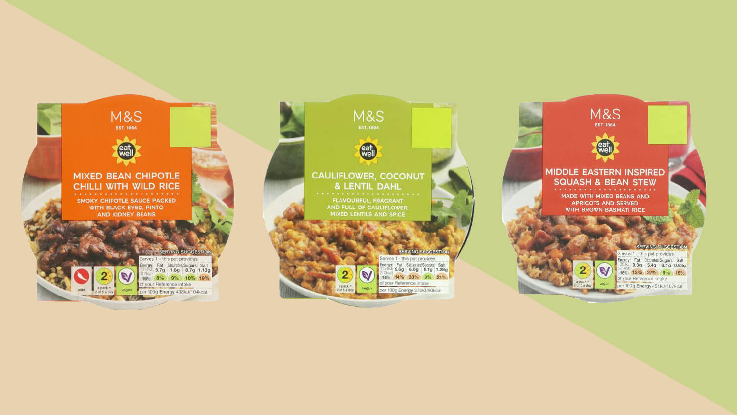 Marks & Spencer's New Vegan Range Includes Coconut Dahl, Middle Eastern Stew, and Chipotle Chilli With Wild Rice