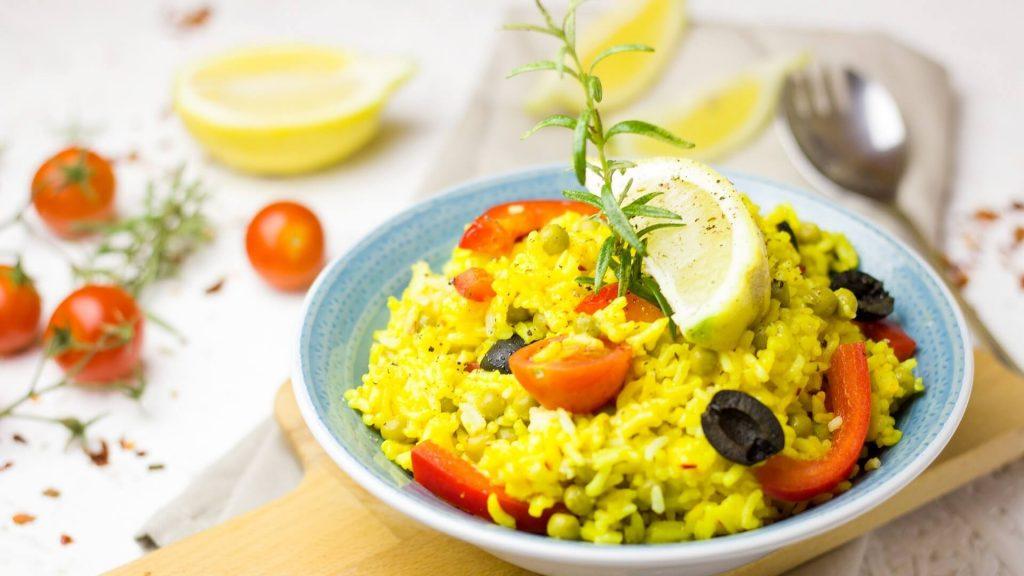 Vegan Saffron Rice Arame Paella Recipe