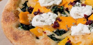 Follow Your Heart's Cheesy Vegan Butternut Squash Flatbread