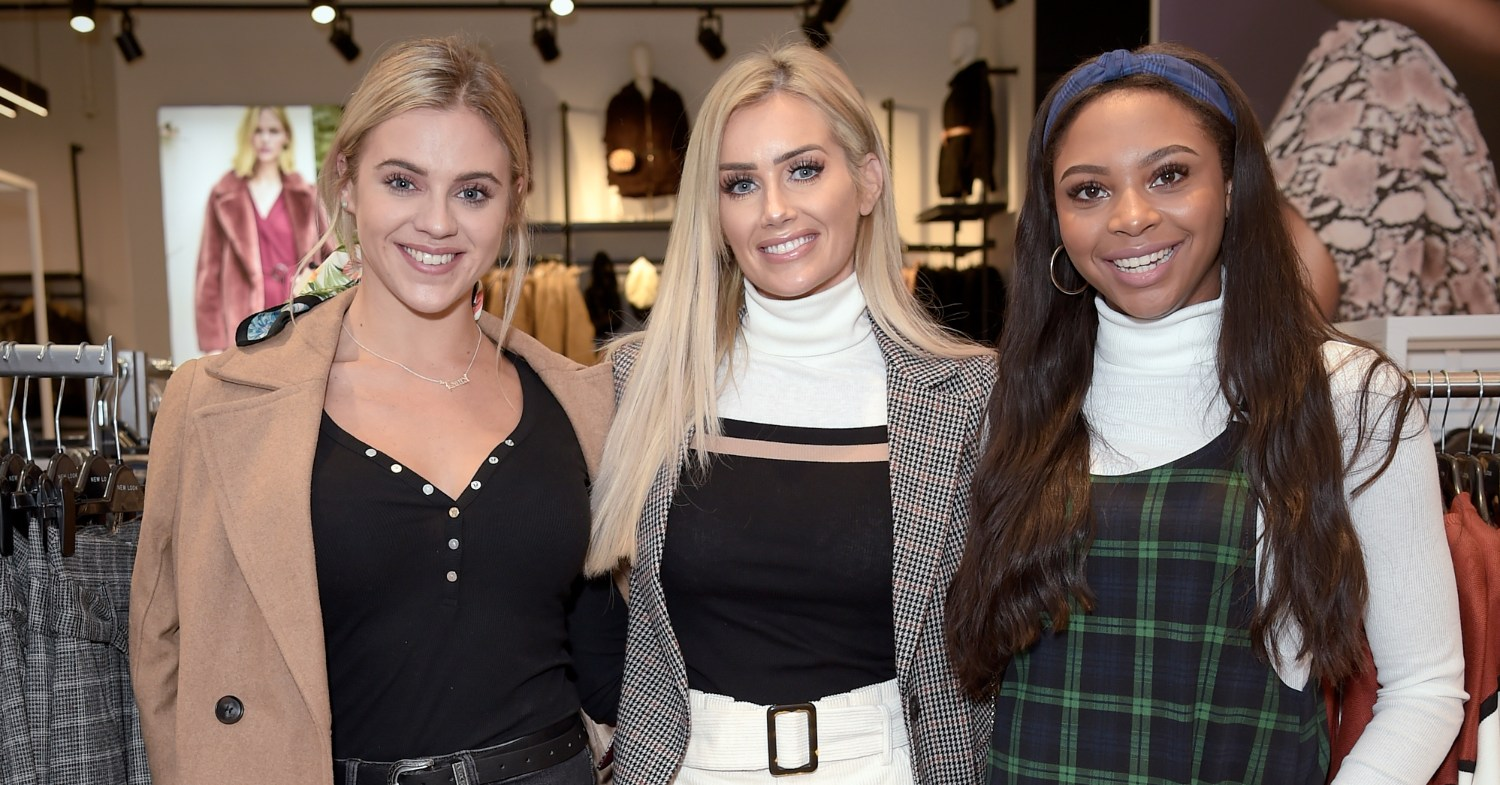 Photo of Love Island stars Samira Mighty, Laura Anderson, and Laura Crane, all of whom have supported the Fur Free UK campaign.