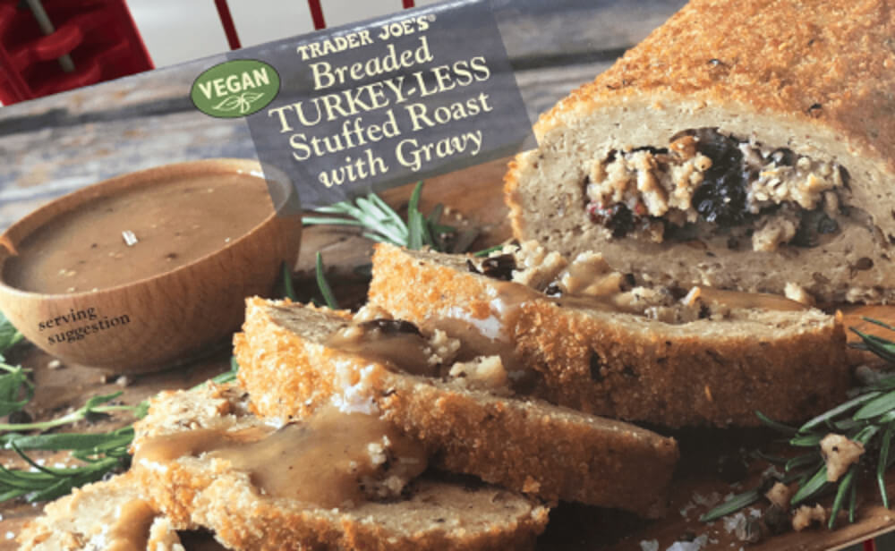 Breaded Vegan Turkey-Less Stuffed Holiday Roast Makes Trader Joe's Come-Back