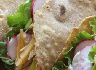 Vegan 'Naked' Taco Bell Chicken-Style Seitan Chalupa Wrap Recipe