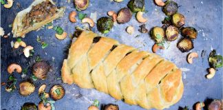 Vegan Chinese 5-Spice Braided Chestnut Mushroom Wellington
