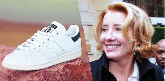 Emma Thompson Wears Vegan Stella McCartney x Stan Smith Sneakers During Her Damehood at Buckingham Palace