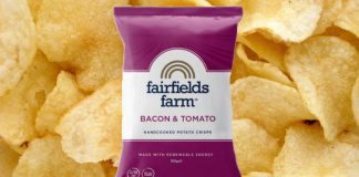 Artisan Crisp Brand Fairfields Farm Launches Vegan Bacon & Tomato Crisps in Co-Op Stores Nationwide