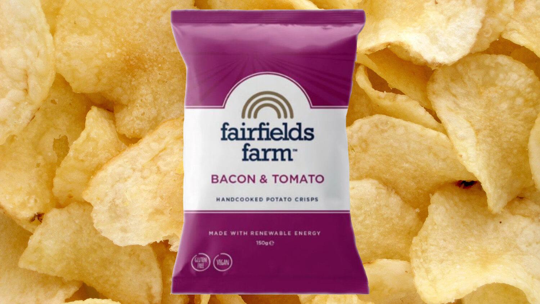 Artisan Crisp Brand Fairfields Farm Launches Vegan Bacon & Tomato Crisps in Co-Op Stores Nationwide