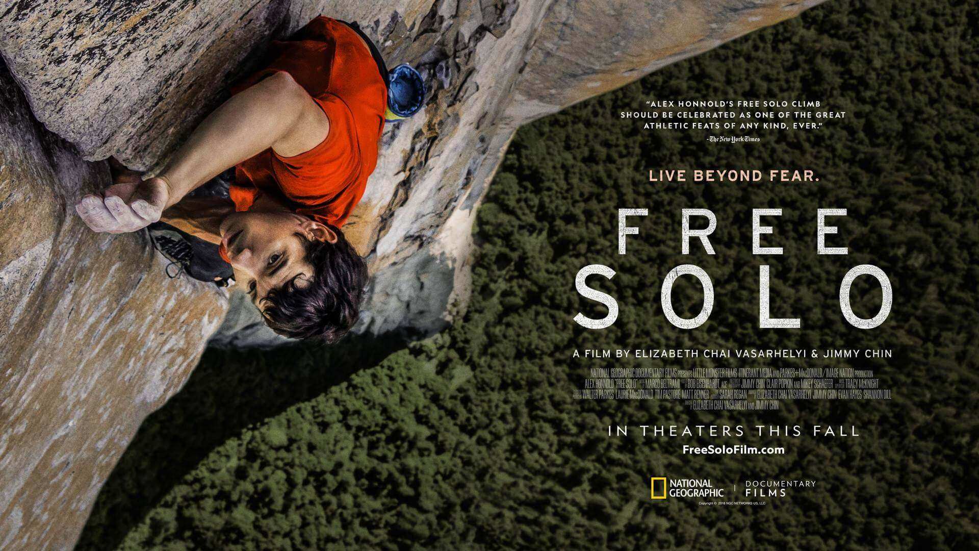 'Free Solo' on Plant-Based Rock Climber Wins Oscar