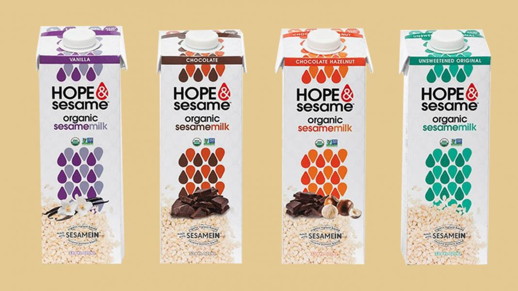 Hope & Sesame Launches World's First Vegan and Organic Sesamemilk Range