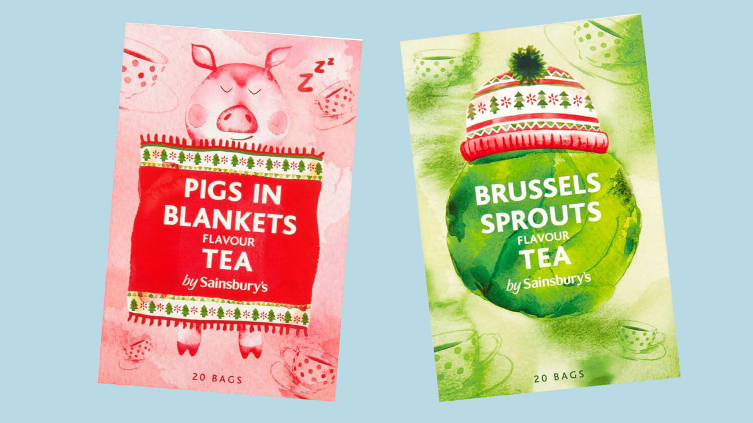 Vegan Pigs In Blankets and Brussels Sprouts Flavored Tea Launches At Sainsbury's