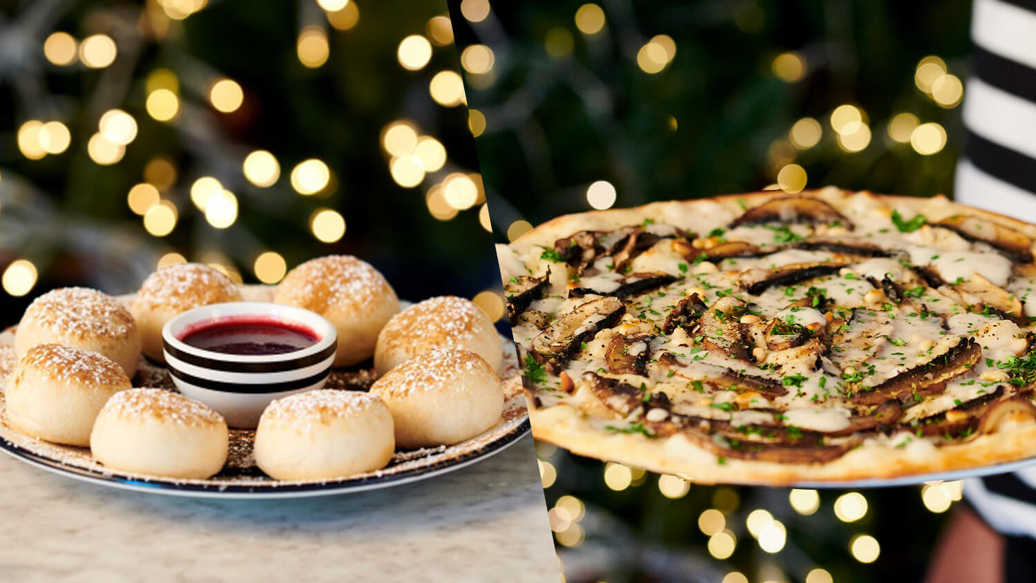 Vegan Christmas Pine Nut and Mushroom Pizza Coming to PizzaExpress UK