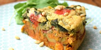 Cheesy Vegan, Gluten-Free Spanish Sweet Potato and Nooch Tortilla Recipe