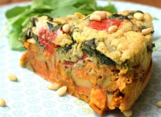 Cheesy Vegan, Gluten-Free Spanish Sweet Potato and Nooch Tortilla Recipe
