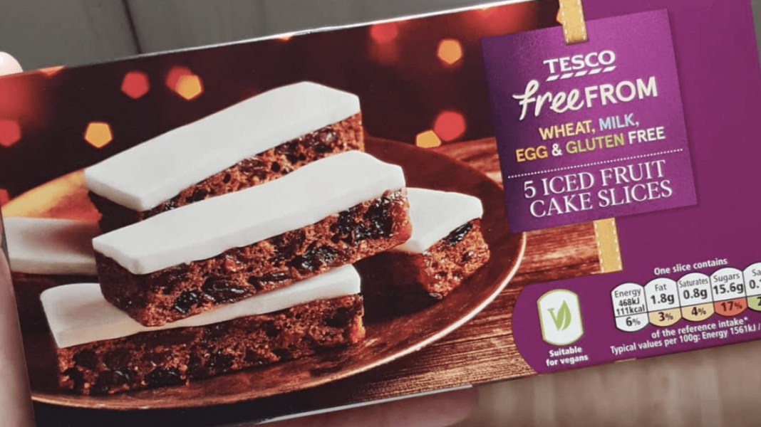 Vegan Spiced Iced Fruit Cake Slices Added To Tescos