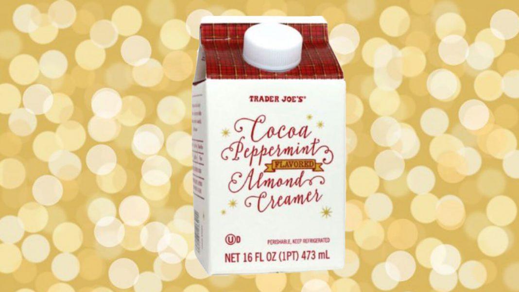 Trader Joe's Launches Vegan Cocoa Peppermint Almond Coffee Creamer