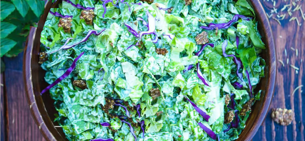 Simple Vegan Caesar Salad With the Best Dressing on Earth