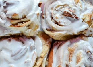 Vegan Cinnamon Rolls With Orange Glaze and Cranberry Stuffing