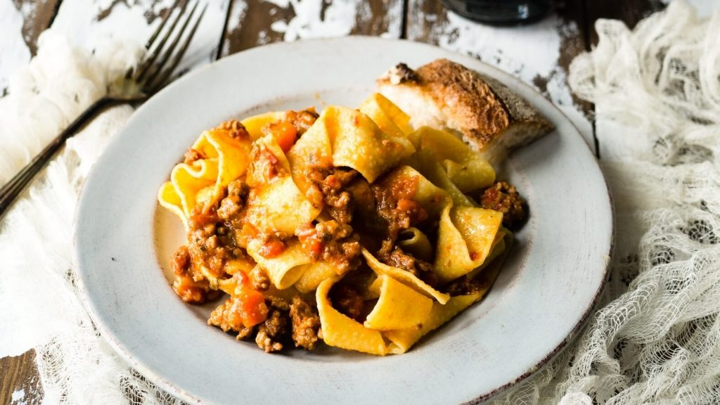 Cremini Mushroom and Walnut Vegan Bolognese Pasta Sauce