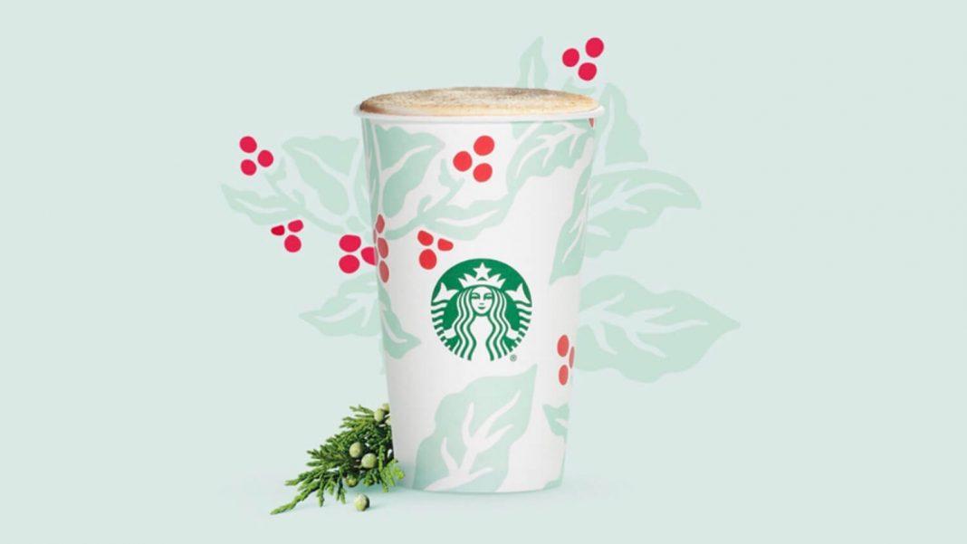 Christmas Tree Frap.Starbucks Vegan Friendly Christmas Pine Tree Juniper Latte