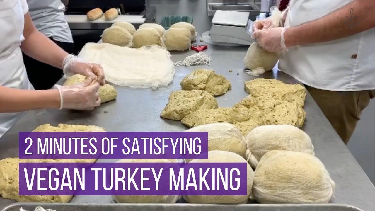 2 Minutes of Satisfying Vegan Turkey Making