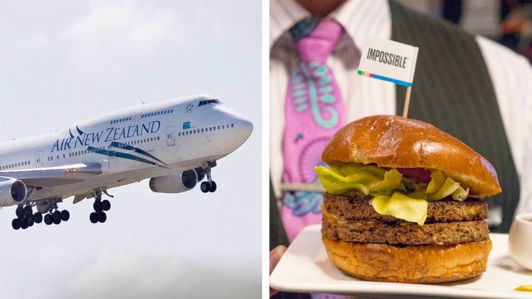 Air New Zealand Brings Vegan Impossible Burgers to the UK