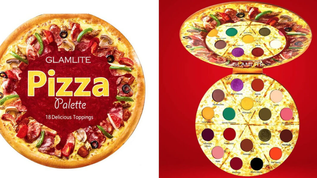 Glamlite Cosmetics Launches Vegan Pizza Eye Shadow Palette in 18 Shades