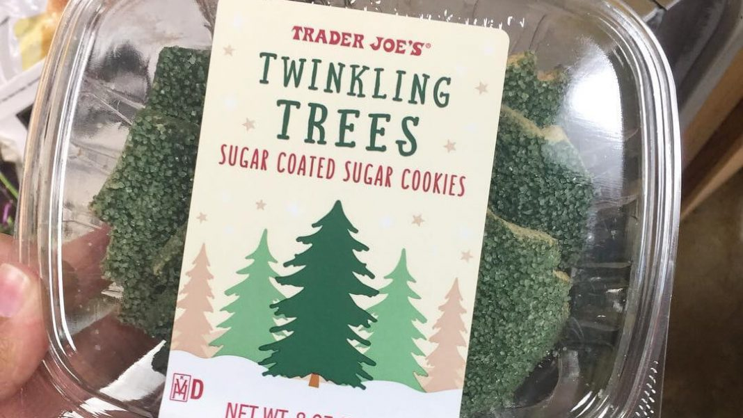 Trader Joe's Launches Vegan Twinkling Christmas Tree Holiday Cookies