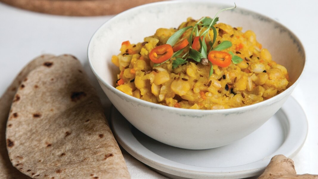 Healing Ayurvedic Vegan Mung Bean Kitchari Recipe
