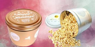 Netflix and Chill Forever With This $40 2-Gallon Tin of Vegan Popcorn