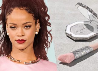 Rihanna's Fenty Beauty Launches Vegan Synthetic Fur Swarovski Crystal-Coated Makeup Brushes