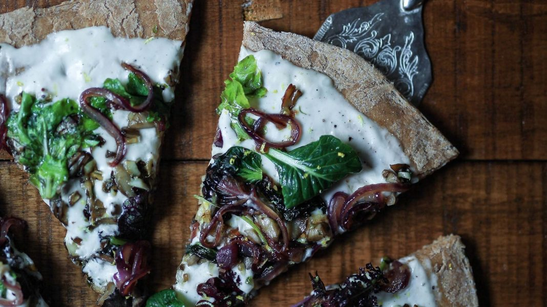 Vegan and Gluten-Free Mushroom and Artichoke Flatbread Recipe