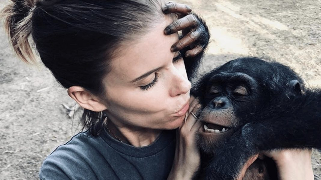 Vegan Actor Kate Mara Urges Fans to Support Liberian Chimp Rescue Organization