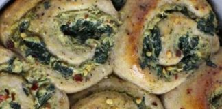 Vegan Garlic, Cheese, and Spinach Pizza Rolls Recipe
