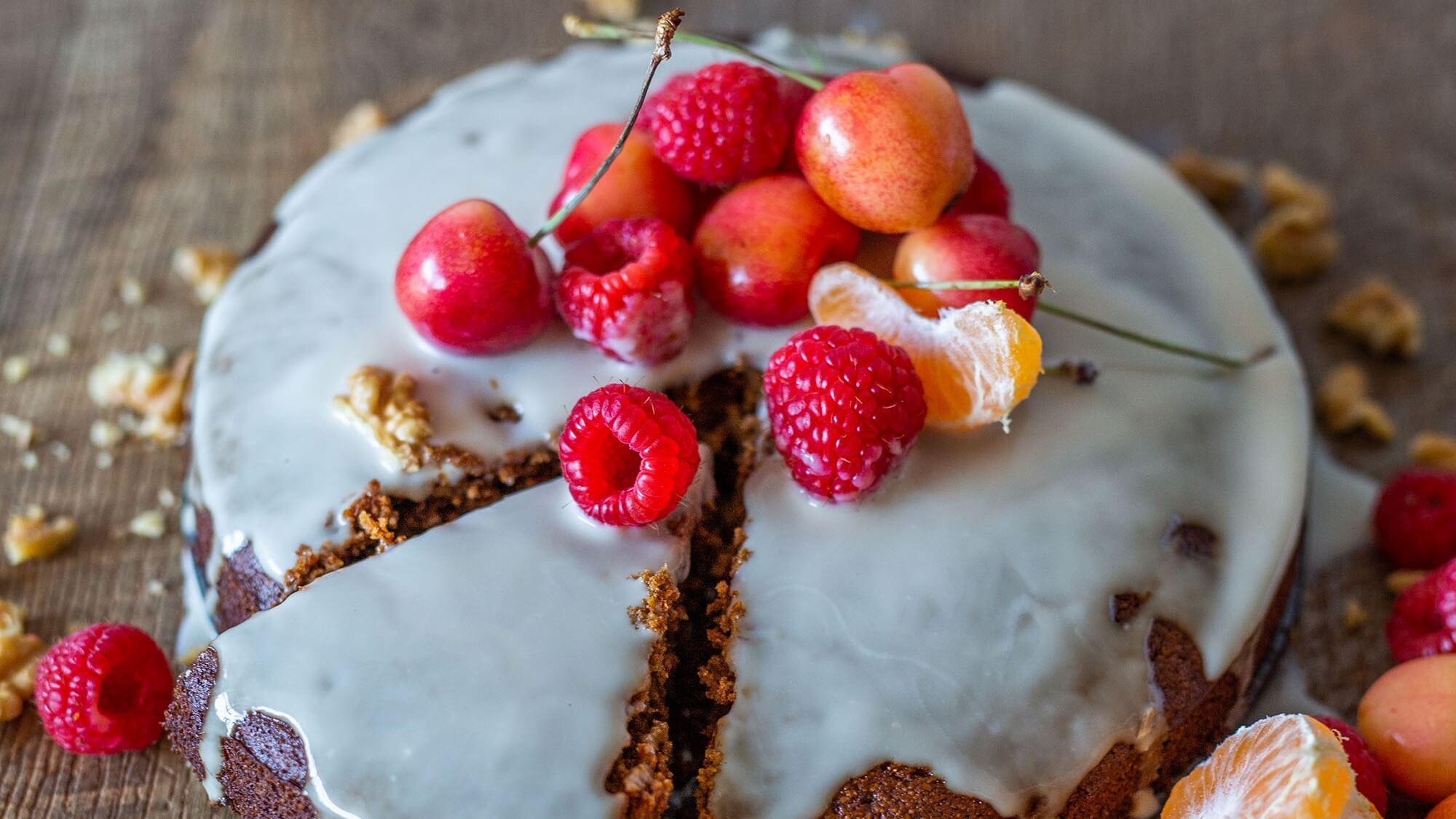 Vegan Mandarin and Polenta Cake With Dairy-Free Yogurt Frosting