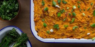 Easy, Healthy Vegan Shepherd's Pie With Eggplant and Sweet Potatoes