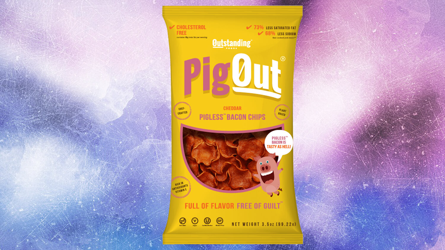 Vegan Pig Out! Mushroom Bacon Chips and Snacklin's Pork-Free Rinds Will Be the Hottest Snacks of 2019