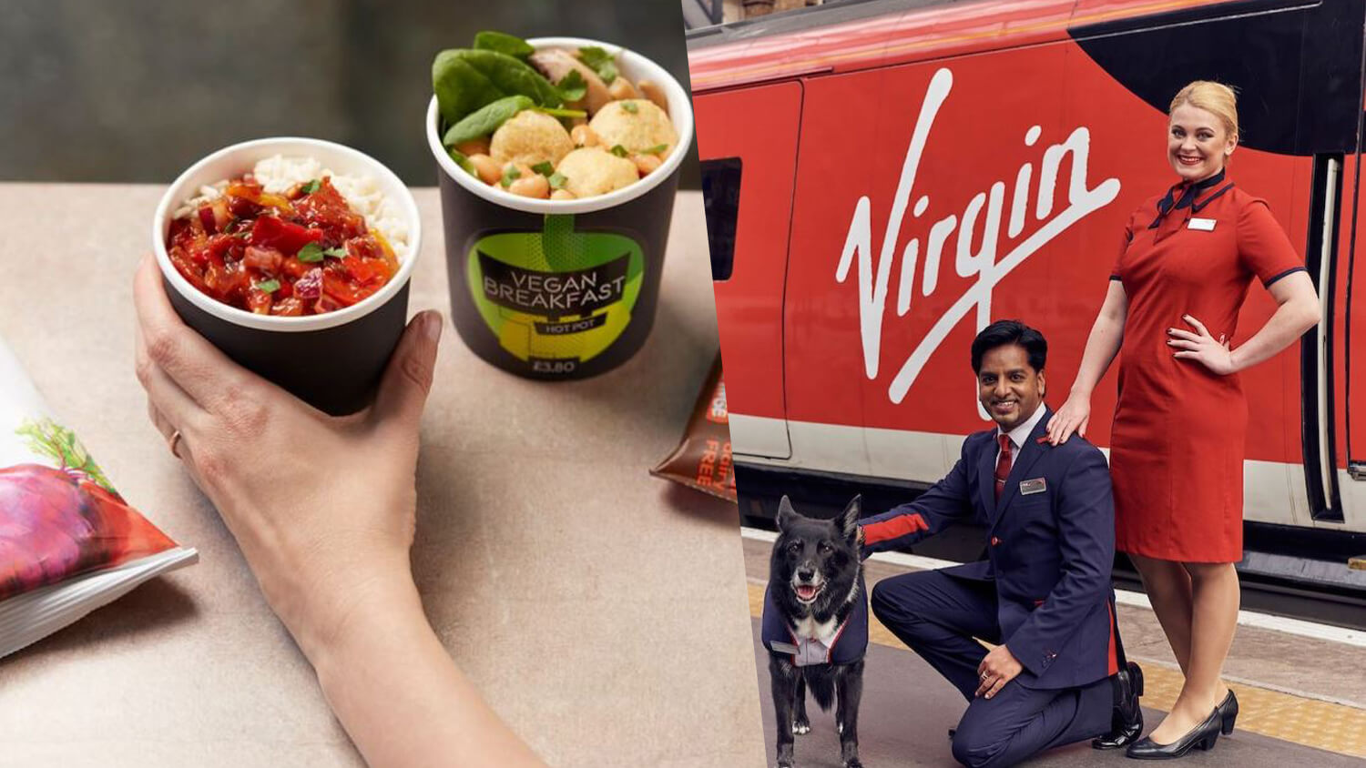 Virgin Trains Becomes UK's First Train Operator to Launch Vegan Menu Including Breakfast Pots, Pasta Salad, and Spicy Bombay Potatoes