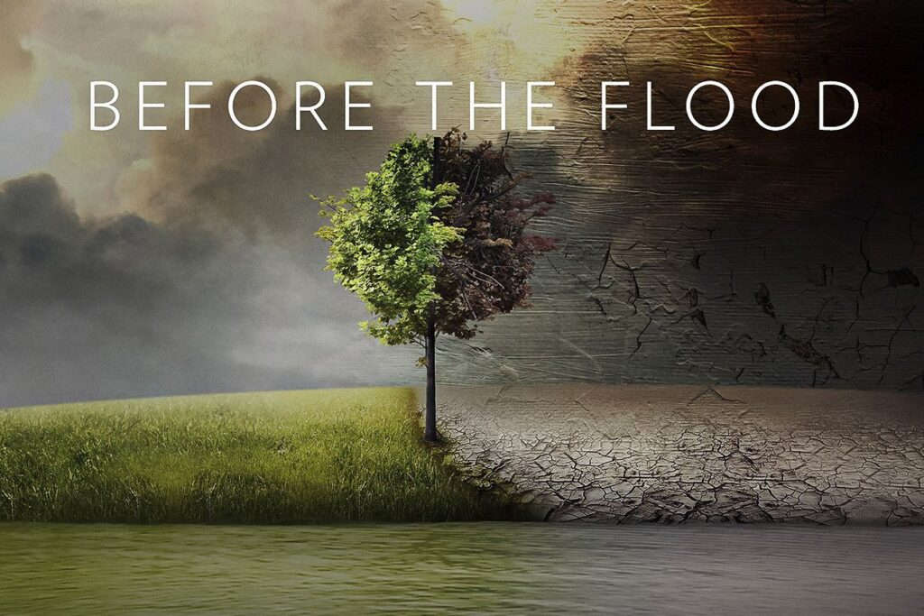 """Image: the poster for the documentary """"Before the Flood."""""""