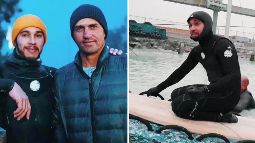 World Champion Vegan Athletes Lewis Hamilton and Kelly Slater Go Surfing Together