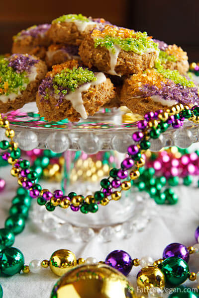 5 To-Die-For Vegan Mardi Gras King Cakes With Ghost Pepper Frosting...Or Not!
