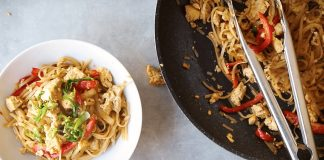 Vegan Thai Stir-Fry Soba Noodles With Garlic-Fried Tofu