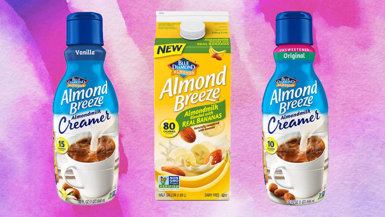Blue Diamond Launches Vegan Almond Breeze Milk Creamer and Dairy-Free Banana Milk
