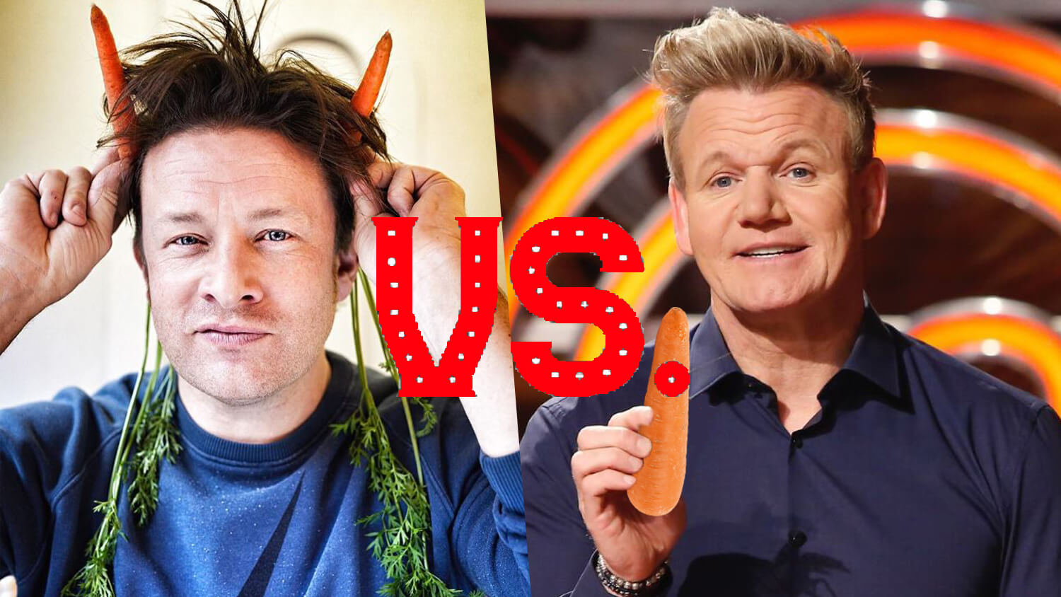 Chefs Jamie Oliver and Gordon Ramsay in a Race to Launch the Most Vegan Recipes in January