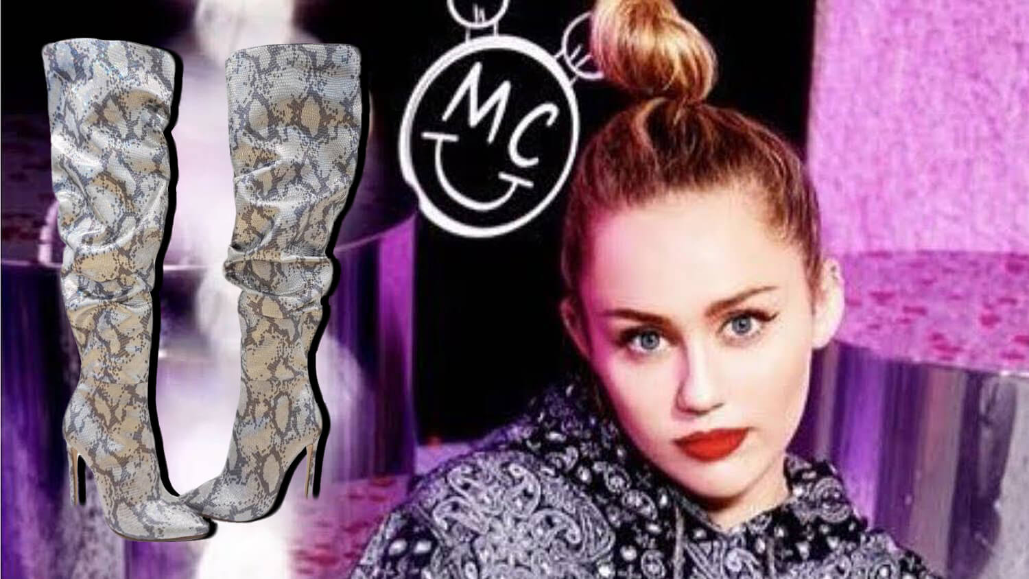 Miley Cyrus Is Obsessed With These Vegan Leather Snakeskin Boots