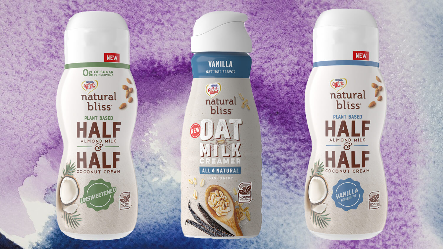 Nestlé's Coffee-Mate Launches 'Natural Bliss' Vegan Almond-Coconut Half-and-Half and Dairy-Free Oat Creamer