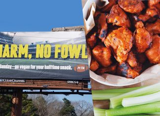 Why This Billboard Is Urging Super Bowl Fans to Go Vegan