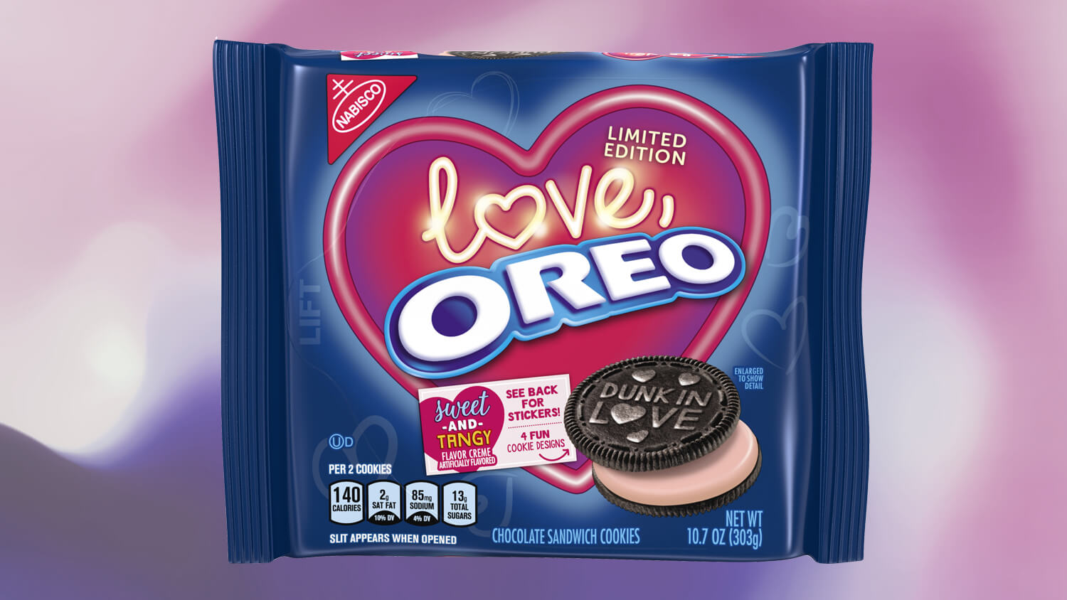 Vegan Pink 'Love, Oreo' Cookies Launch Just In Time for Valentine's Day