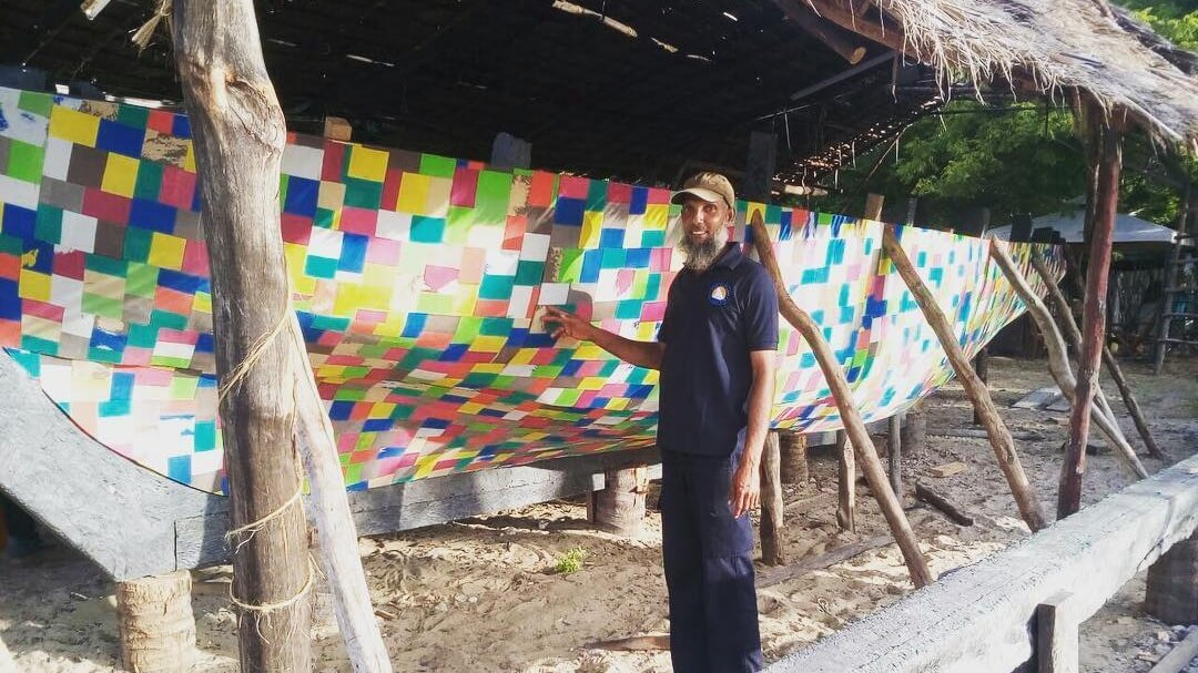 This Sailboat is Made Out of 30,000 Flip Flop Shoes