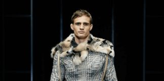 Designer Fashion Label Armani Debuts Men's Faux Fur Coat and Boots at Fall/Winter 2019-20 Fashion Show